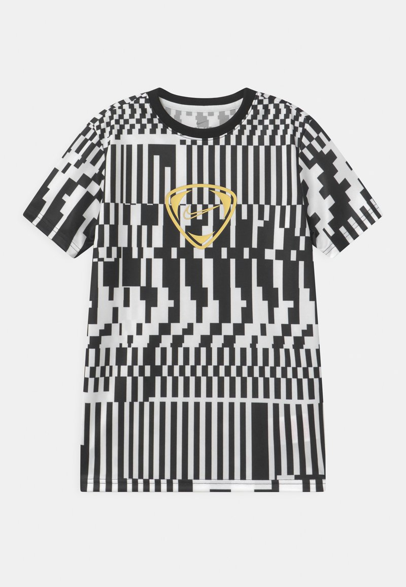 Nike Performance - DRY UNISEX - Print T-shirt - white/black/saturn gold