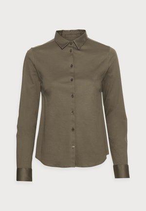 TINA - Button-down blouse - grape leaf