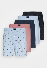 Abercrombie & Fitch - ICON 5 PACK - Trenýrky - dark pink/blue/light blue - 0