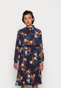 ONLY - ONLNOVA LUX SMOCK DRESS - Kjole - night sky/fall devon - 0
