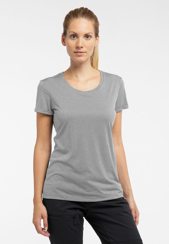 Haglöfs - RIDGE HIKE TEE - Basic T-shirt - concrete