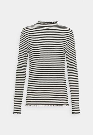 STRIPE MIX TRUTTE - Long sleeved top - off white/black