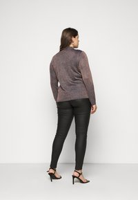 CAPSULE by Simply Be - CYBER FUNNEL NECK JUMPER - Jumper - navy/copper - 2