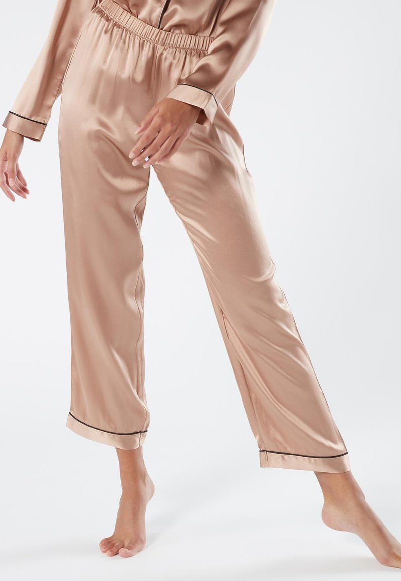 Intimissimi - LANGE HOSE AUS SATIN UND SEIDE - Pyjama bottoms - rose satin
