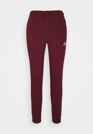 Tracksuit bottoms - dark beetroot/white