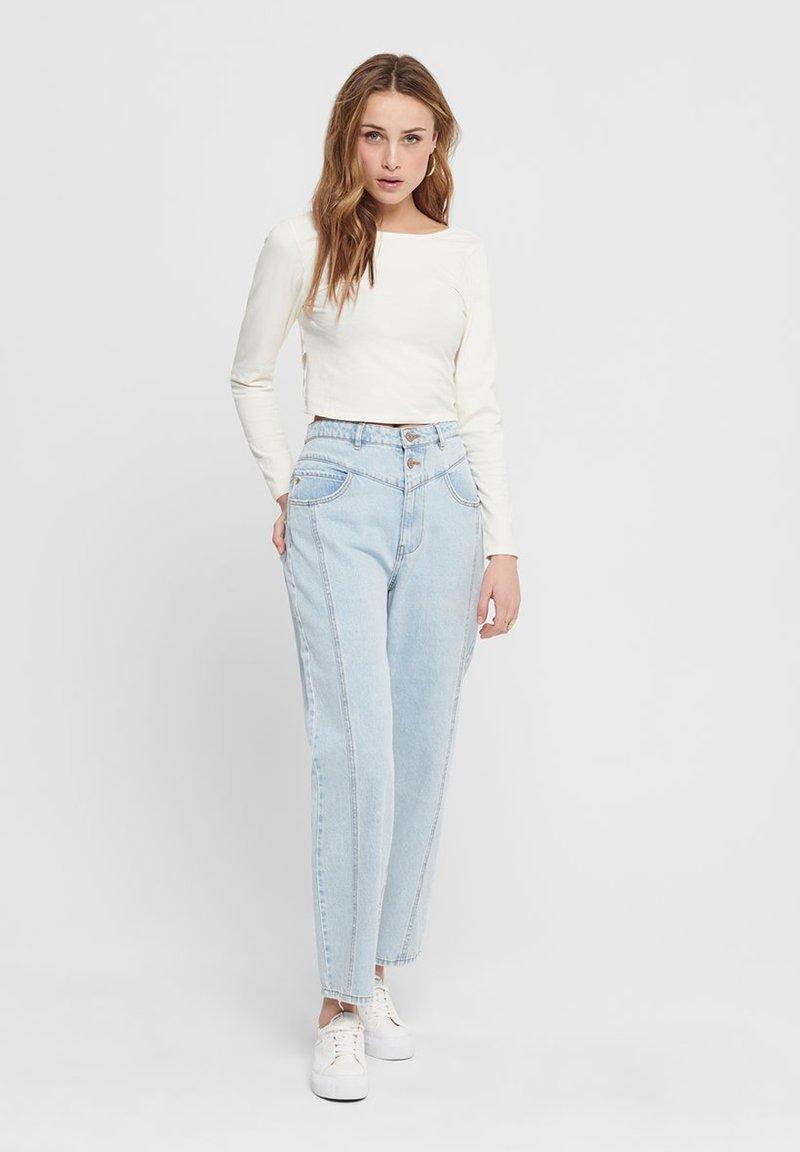 ONLY - STRAIGHT FIT JEANS ONLISLA LIFE MID ANKLE - Straight leg jeans - light blue denim