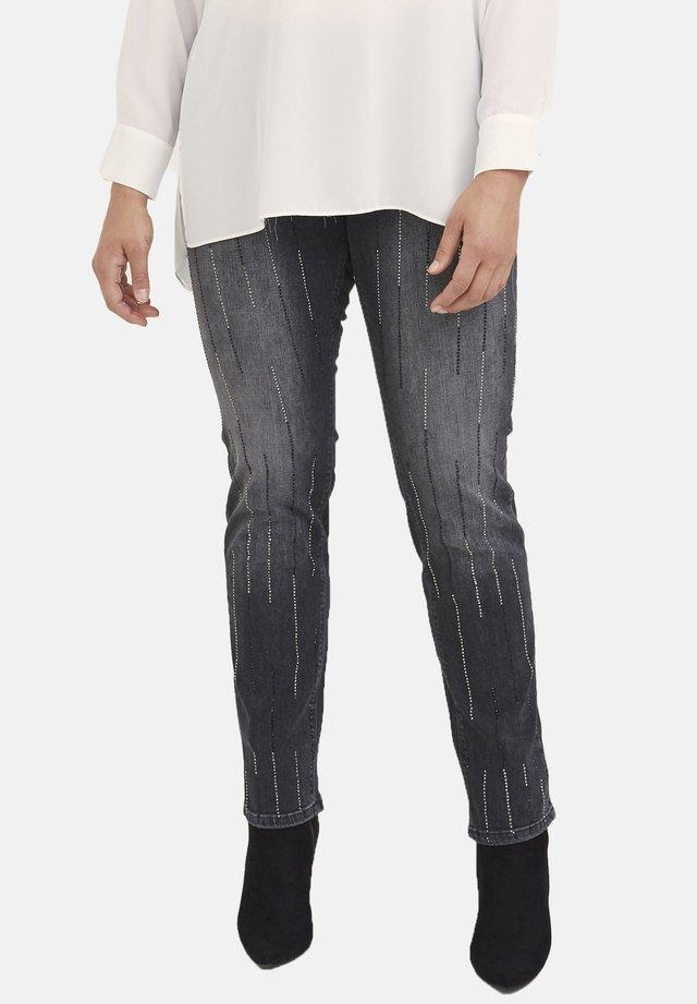 MIT KRISTALLEN - Jeans Skinny Fit - nero
