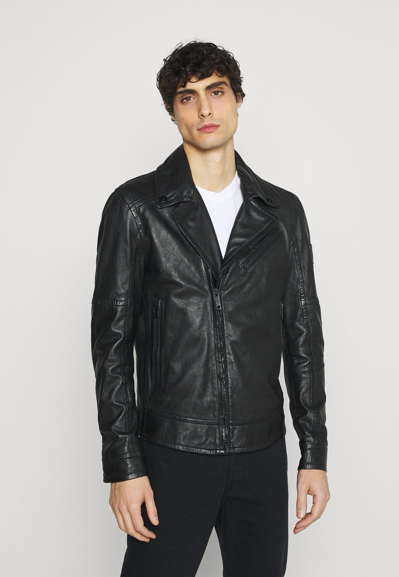 Strellson - PARKS - Leather jacket - black