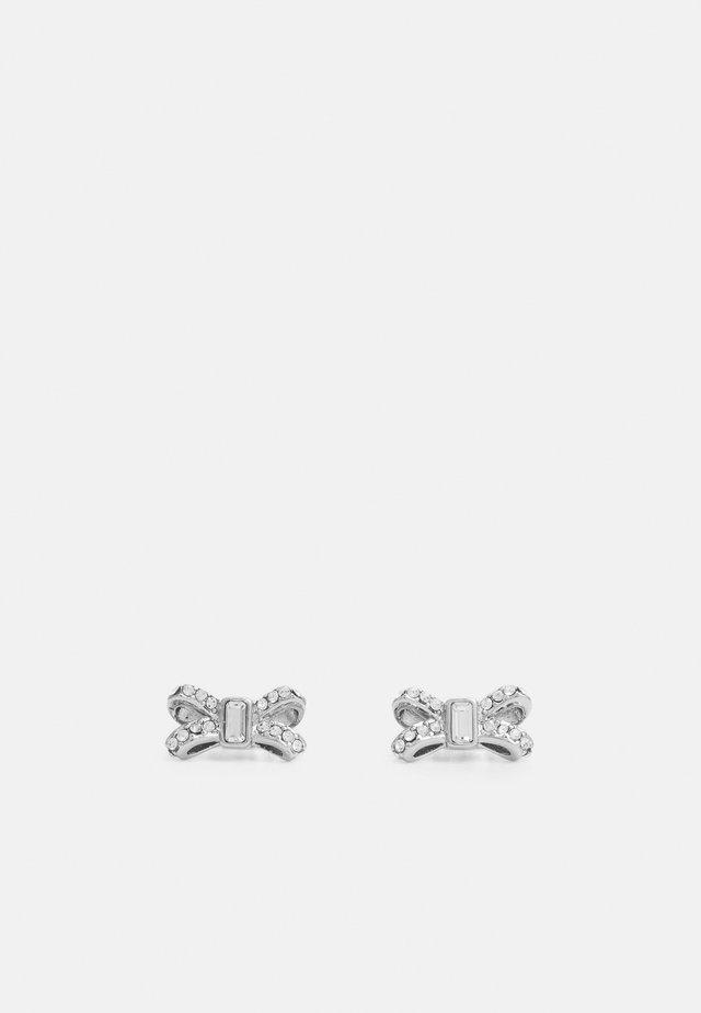SABLA SPARKLE BOW STUD EARRING - Orecchini - silver-coloured/crystal