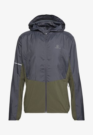 AGILE HOODIE - Outdoorjacke - olive night/ebony