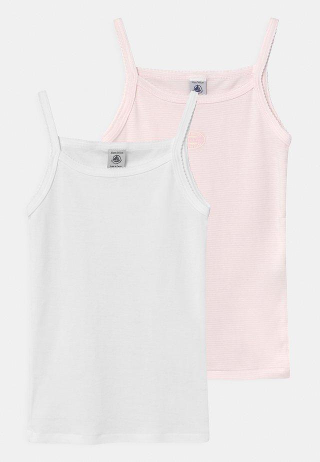 MILLERAIES 2 PACK - Unterhemd/-shirt - light pink/white