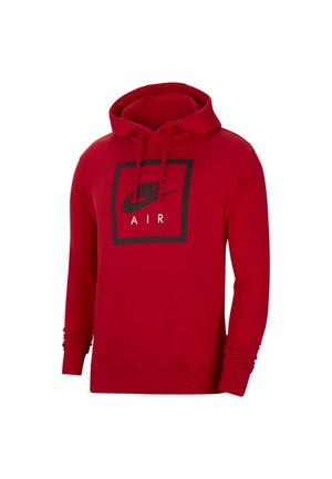 HOODIE AIR - Luvtröja - university red/black