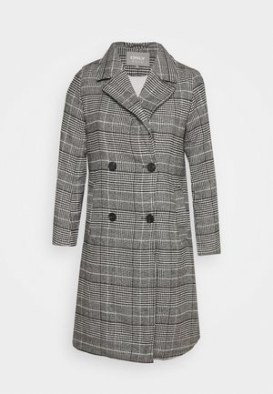 ONLARABELLA CHECK COAT - Classic coat - black/cloud dancer