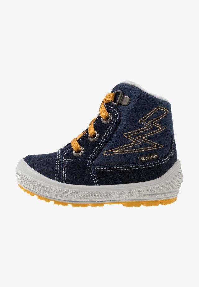 GROOVY - Winter boots - blau/gelb