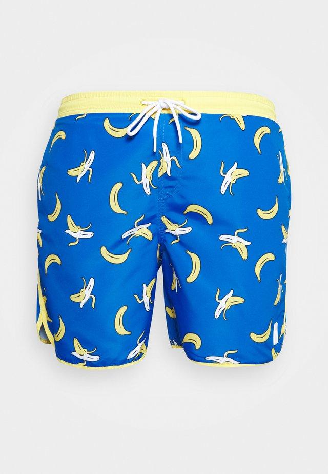 PATTERN RETRO SWIM - Swimming shorts - blue