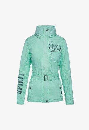 MIT KAPUZE UND TAILLENGÜRTEL - Outdoor jacket - market green