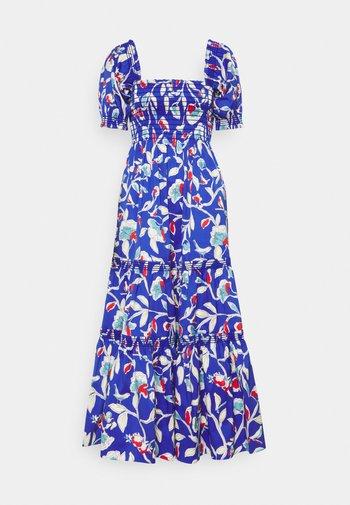 Denní šaty - blue painted roses