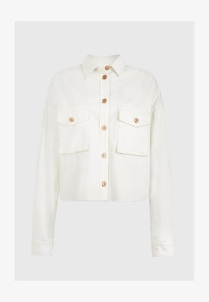 SOL SHIRT - Denim jacket - white