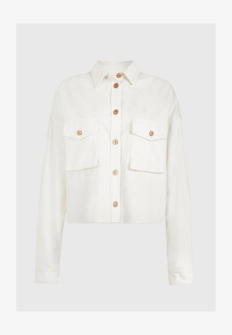 AllSaints - SOL SHIRT - Denim jacket - white