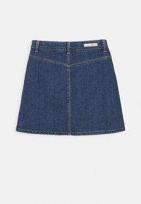Name it - NKFTECOS A SHAPE SKIRT - A-line skirt - dark blue denim - 1