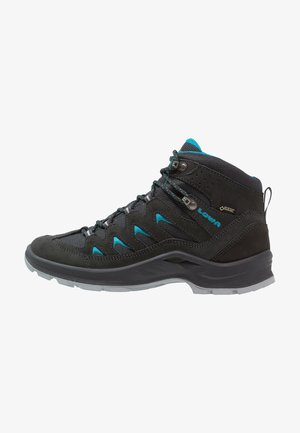 LEVANTE GTX QC - Hiking shoes - anthrazit/türkis