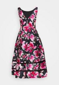 Adrianna Papell - PRINT MIKADO DRESS - Cocktail dress / Party dress - black/pink - 1