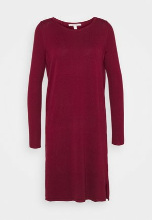 Strickkleid - bordeaux red