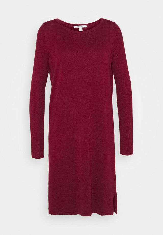 Jumper dress - bordeaux red