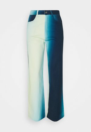 ALEXA PANTS - Džíny Straight Fit - blue fade