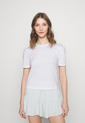 ONLELLA LIFE PUFF - Basic T-shirt - bright white/solid