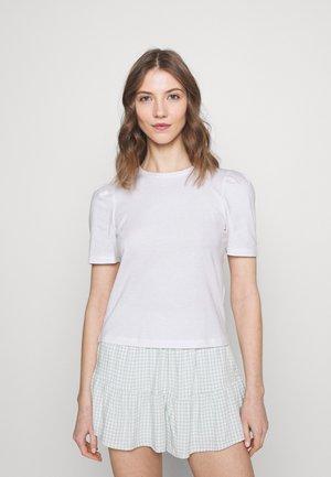 ONLELLA LIFE PUFF - T-shirt basic - bright white/solid