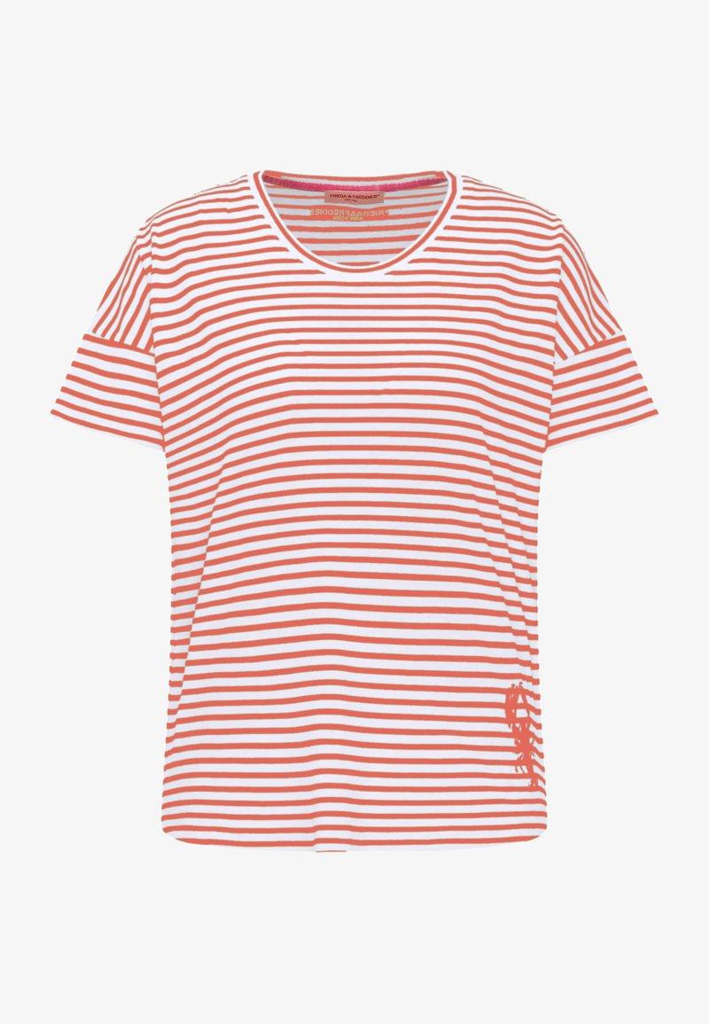 Frieda & Freddies - Print T-shirt - light orange