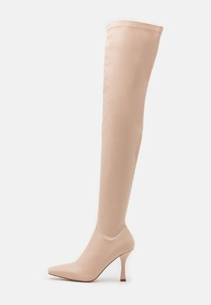 OPYUM - Kozačky nad kolena - cream