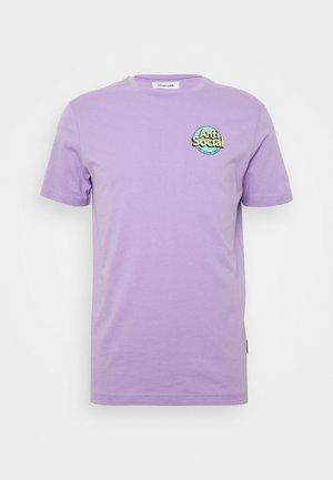 UNISEX ANTI SOCIA - T-shirt print - lilac