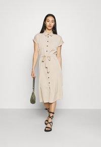 ONLY - ONLHANNOVER SHIRT DRESS - Shirt dress - humus - 1