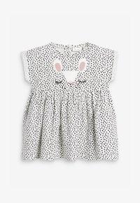 Next - BUNNY FACE - Denní šaty - white/black - 1