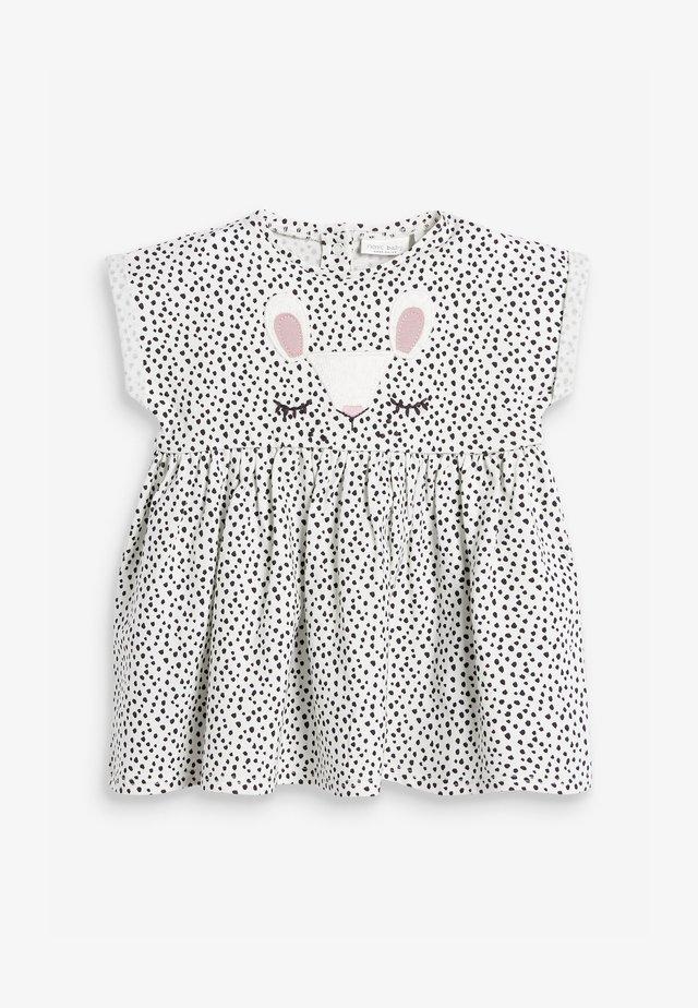 BUNNY FACE - Denní šaty - white/black