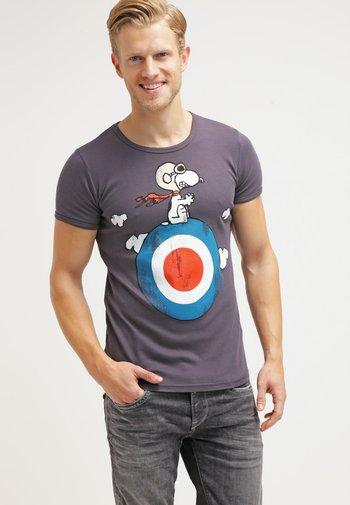 SNOOPY - Print T-shirt - medium blue