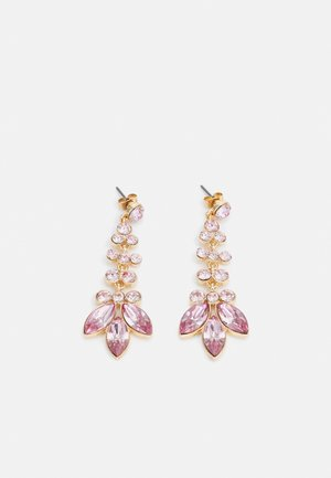 PCMELANI EARRINGS - Korvakorut - gold-coloured/pink