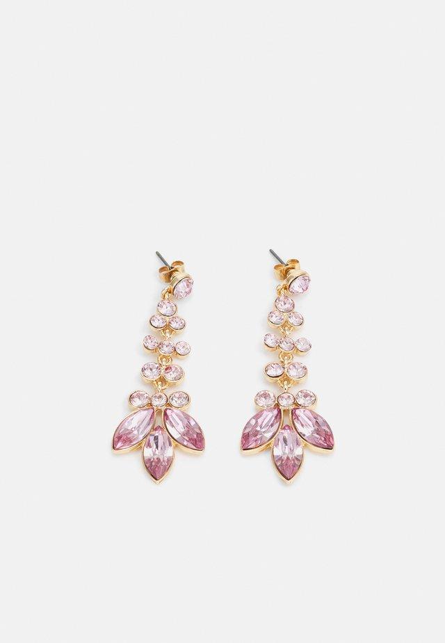 PCMELANI EARRINGS - Kolczyki - gold-coloured/pink
