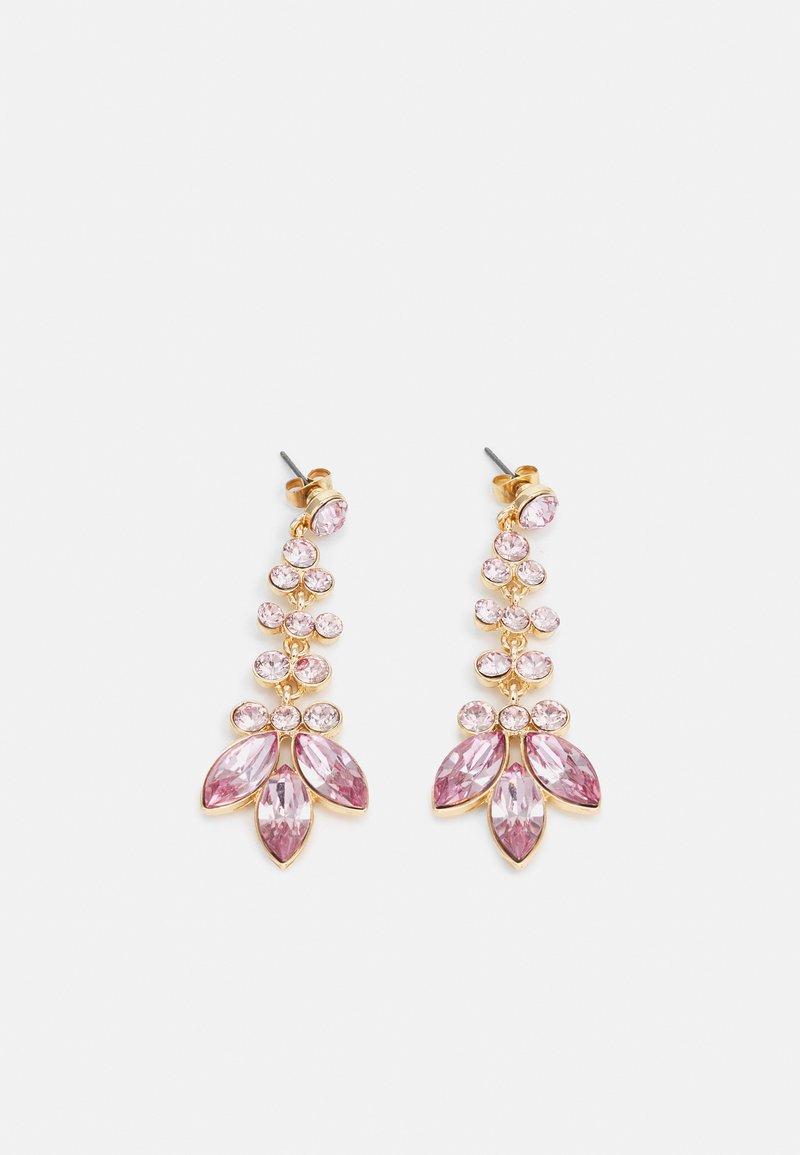Pieces - PCMELANI EARRINGS - Earrings - gold-coloured/pink