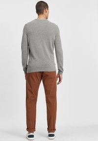 Timberland - Stickad tröja - medium grey heather - 2