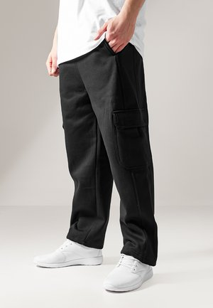 CARGO SWEATPANTS - Verryttelyhousut - black