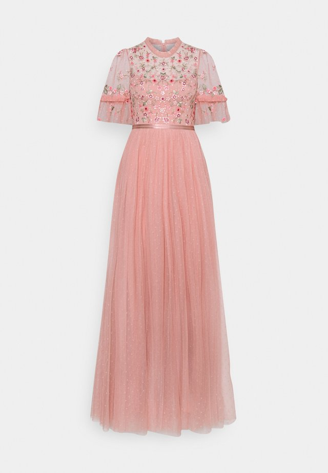 ELSIE RIBBON BODICE MAXI DRESS - Galajurk - rose fairy tale