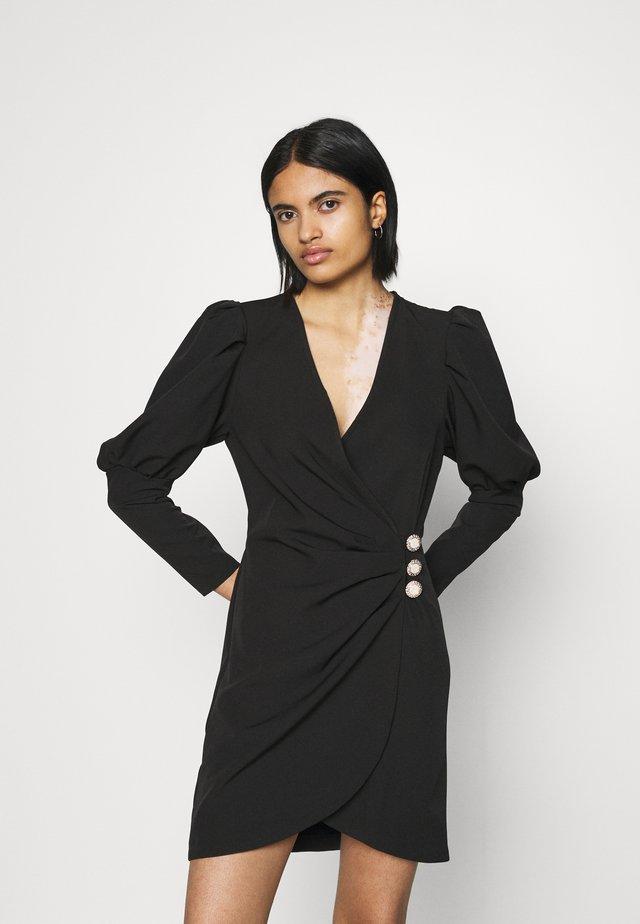 PUFF SLEEVE TUX DRESS - Cocktailjurk - black