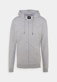 BASIC ZIP CARDIGAN - Zip-up sweatshirt - light grey melange