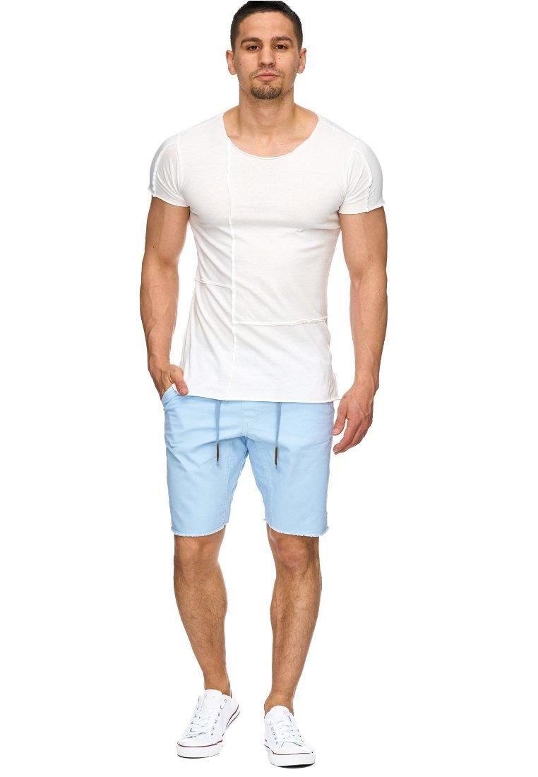 INDICODE JEANS - CARVER - Denim shorts - blau