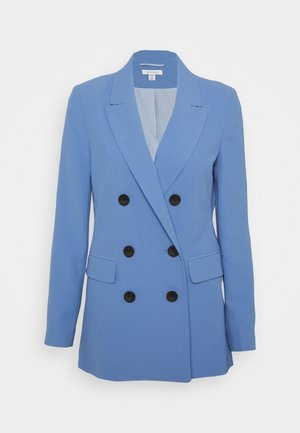 TWILL DOUBLE BREASTED SUIT JACKET - Blazer - blue
