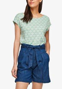s.Oliver - Print T-shirt - ocean green aop - 4