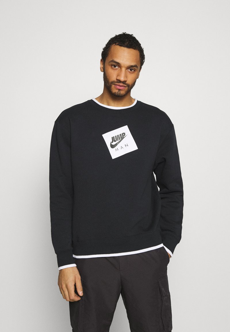 Jordan - CREW - Sweatshirt - black/white